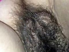 Hairy Pussy Closeup cumshot