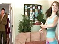 Husband and wife fuck the babysitter 679