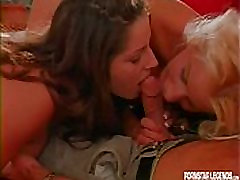 Blonde and sxse porno brunette sharing cock