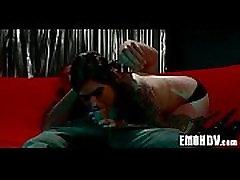 Emo apskretėlė su tatuiruotėmis 0457