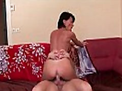 Nice titted amateur french mom hard sodomized with cum in mouth for her casting