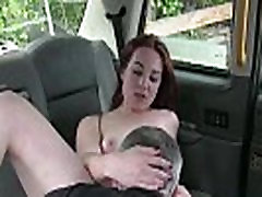 Sexy redhead girl form Netherlands flashes her tits and gets a free hot sex