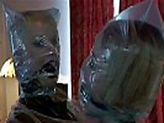 Two blonde pornstar real dolls wrapped together! Lezdom