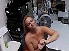 Sexy Teen Sucks Dick in the Backroom