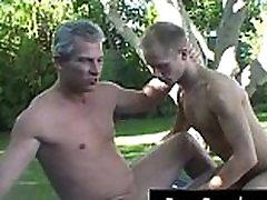 Mature gay dude gets his hard dick gay video