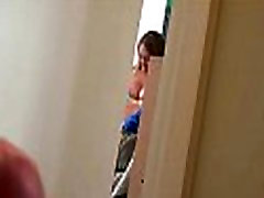 Horny young girlfriend is caught on camera fucking her boyfriend 9