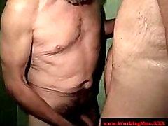 Mature straight dilfs anal sex in shower