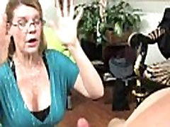 Busty mature facialized with giant load