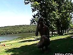 Hot outdoor seduction