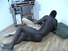 Pretty white girl sucks funking mom and son fucks black cock
