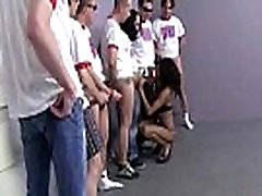 Extreme interracial gangbang - seksi ebony hottie skupine sex 28