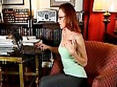 Classy mom nina kayy lady masturbates in panties and pantyhose