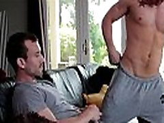 Muscular gay jock sucks and fucked