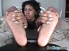 Ebony Girl Teases Her diana doll whore no246 Covered Feet