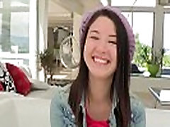 Cute cockloving teen with chri hique facialized