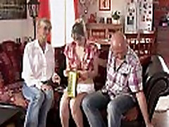 Mature couple threesome with his GF