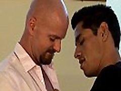Hunky gay guy rimming jock before anal