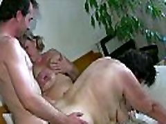 OldNanny jerk by sister Grannie and BBW Mature playing with a man