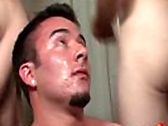 Bukkake Boys - Gay guys get covered in loads of hot semen 11