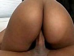 HOT ebony babe presenting her BIG booty