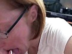 Mature swinger Layla Redd is sucking a stiff cock