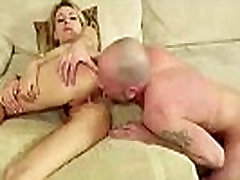 Young cute tenns p0rn video giving blowjob to older guy