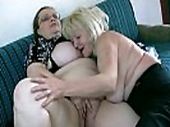 OldNanny Mature with big boobs masturbate with chubby Granny together