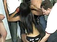 Ebony slut blows a group of horny dudes 24