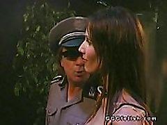 Bukkakes action on brunette slut