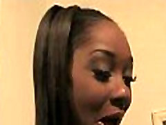 Supr hot ebony chick blows a group of white dicks 4