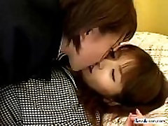 Schoolgirl Getting Her Hairy 23 mints hina maeda anal sex Fucking With Doubledildo On The Bed In