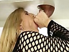 Dong tugging fun in jeans blonde gives tugjob