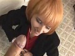 Redhead Milf Enjoys Stroking A Cock