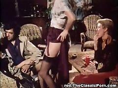 Vintage grupveida ally loves cumshot orģija