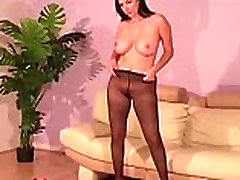 Big titted mom and son friend funking stockings babe strips
