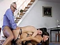 Threesome for mature British lady in stockings