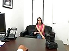 Petite girl Jennifer Blaze comes by for casting.1