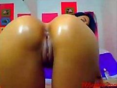 Karšta mergina masturbuojantis ant webcam-765cams.com