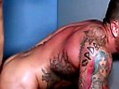 Gay tattooed amarika grand gets ass rammed