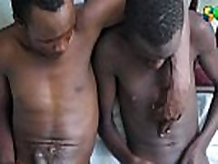 Ethnic amateurs jerking off together