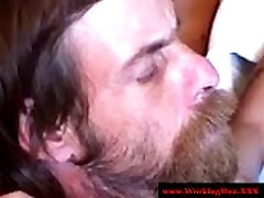 Southern threesome dad massage bear face fucked