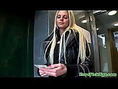Hot blonde euro babes bj for some cash