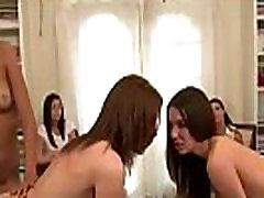 Lesbian teen dildo fuck in amateur sorority