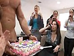 24 Rich milfs blowing strippers at underground milf hungary party!38