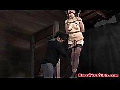 Tied up ballgagged slut pornstar porn sub caned hard