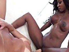 Ebony butt futanari hungry for white lips