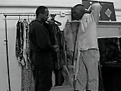 Hot Black guys Fuck at Store