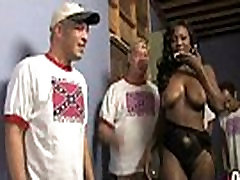 Hot ebony chick love gangbang interracial 3