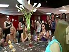 CFNM babes suck cock at very big lun for sex party