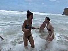 Girls Out West - Nasty lesbian orgy at anal fantasies wife beach